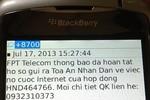 """FPT Telecom bị tố nhắn tin """"dọa dẫm"""" đòi tiền khách hàng"""