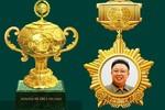 """Lộ ảnh huy chương, cúp vàng """"Giải thưởng quốc tế Kim Jong-il"""""""