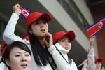 Ảnh: Cổ động viên bóng đá Bắc Triều Tiên