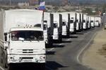Đoàn viện trợ thứ 3 của Nga bất ngờ đến miền Đông Ukraine