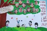 Chùm ảnh: Báo tường độc đáo kỷ niệm ngày 20/11