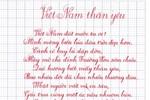 Thầy giáo viết chữ đẹp đến khó tin
