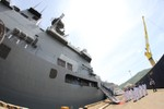 Xem tàu chiến Nhật Bản vừa cập cảng Đà Nẵng