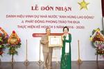 Nhà giáo ưu tú Lê Công Cơ vinh dự đón nhận danh hiệu Anh hùng Lao động