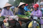 """Không khí lạnh đột ngột, người dân Hà Nội """"xếp hàng"""" mua rau"""