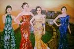 Dư luận phản đối bức tranh 'Tân tứ đại mỹ nhân Trung Quốc'