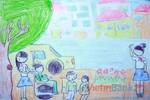 Tranh dự thi của Thu Ngân, lớp 4A, Tiểu học Xã Đàn (MS:484)