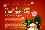 """""""Vui Giáng sinh – Rinh quà tặng"""" cùng VietinBank"""