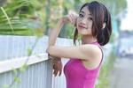 Hotgirl Cao đẳng Nghệ thuật Hà Nội dịu dàng sắc tím