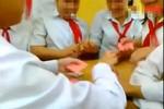 Học sinh cấp 2 ngang nhiên đánh bài ăn tiền, văng tục trong lớp