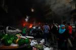 Video: Thành trì Hezbollah bị đánh bom xe vì ủng hộ phe Assad