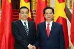 Ảnh: Thủ tướng Nguyễn Tấn Dũng tiếp Thủ tướng Trung Quốc