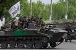 Phe biểu tình phục kích quân đội Ukraine tại Slaviansk, bắn rơi Mi-24