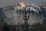 Ảnh: Sân bay Donetsk tan hoang sau các cuộc giao tranh ác liệt