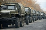 """OSCE phát hiện thêm 2 đoàn xe quân sự """"lạ"""" gần Donetsk"""