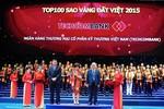 Techcombank lần thứ 5 nhận giải thưởng Sao vàng Đất Việt 2015
