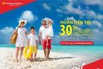 Hoàn tiền 30% khi mua vé bay Vietnam Airlines bằng thẻ Maritime Bank MasterCard