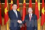 Chủ tịch QH Nguyễn Sinh Hùng trao đổi gì với Chủ tịch Trung Quốc Tập Cận Bình?