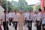 Nguyên Tổng Bí thư Đỗ Mười đi bầu cử từ sớm