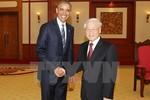 Tổng Bí thư Nguyễn Phú Trọng tiếp Tổng thống Hoa Kỳ Obama