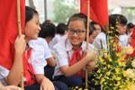 Ảnh: Không khí đón mừng năm học mới ở một số trường tại Hà Nội