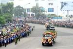 Toàn cảnh Lễ tiễn đưa linh cữu Đại tướng Võ Nguyên Giáp rời Hà Nội