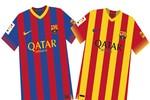 Tiết lộ mẫu áo đấu mùa giải 2013/14 của Barca