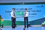 Vietcombank tặng 5 tỷ đồng xây dựng trường học trạm y tế cho tỉnh Thái Bình