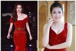 Váy nhung đỏ ồ ạt tấn công Vbiz