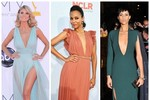 10 bộ váy cổ chữ V gợi cảm nhất thảm đỏ quốc tế 2012
