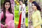Mỹ nhân Việt dùng áo dài tô điểm mùa xuân