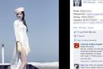 Bức xúc ảnh mẫu Tây mặc áo dài Việt hở hang