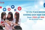 Lướt Facebook bằng 4G MobiFone tốc độ cao chỉ 20.000 đồng/tháng