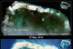 Trung Quốc xua đuổi ngư dân Philippines ở đá Công Đo, tiếp tục xây đảo