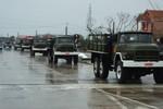 Đoàn xe tiêu binh tập dượt lần cuối trước giờ đón thi hài Đại tướng