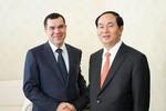 Bộ trưởng Trần Đại Quang chào xã giao Thủ tướng Cộng hòa Belarus
