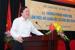 Lần đầu tiên, Bộ trưởng Phùng Xuân Nhạ trực tiếp làm việc với các giám đốc sở