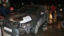 """Hà Nội: Hết Nissan rồi đến… Lacetti """"bỗng dưng"""" bốc cháy"""