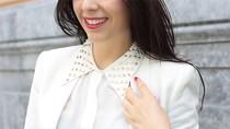Nàng công sở mặc đẹp: Bắt kịp hot item sơ mi trắng tán đinh