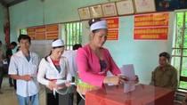 Tỷ lệ cử tri cả nước đã đi bầu cử đạt khoảng trên 70%