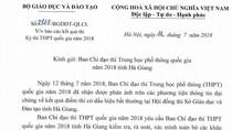 Bộ Giáo dục yêu cầu Ban chỉ đạo thi Hà Giang rà soát toàn bộ lại khâu chấm thi