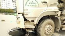 """Xe tải náo loạn trong giờ cấm, tài xế nói đã """"bao luật"""" rồi"""