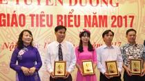 Tuyên dương nhà giáo tiêu biểu toàn quốc năm 2017