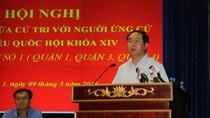 Chủ tịch nước Trần Đại Quang trình bày chương trình hành động với cử tri