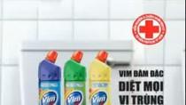 Sau sự cố: Clip quảng cáo Vim đã cắt bỏ hình ảnh quẹt tay vào bồn cầu