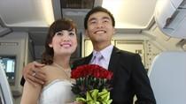 """Cận cảnh đám cưới """"có một không hai"""" trên máy bay VietjetAir"""