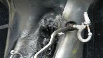 Nghệ An : Xe Honda đột ngột bốc cháy khi đang lưu thông