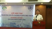 Khai giảng lớp đào tạo nghiệp vụ thanh tra chuyên ngành An toàn thực phẩm