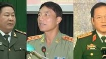Hai tướng công an, một tướng quân đội bị kỷ luật nặng