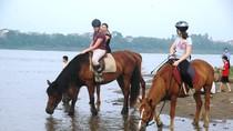 Nắng nóng: Người dân Hà Nội rủ nhau ra bãi sông Hồng giải nhiệt